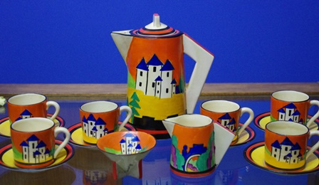 Clarice Cliff - wanted, this coffee set sold for $10,000+